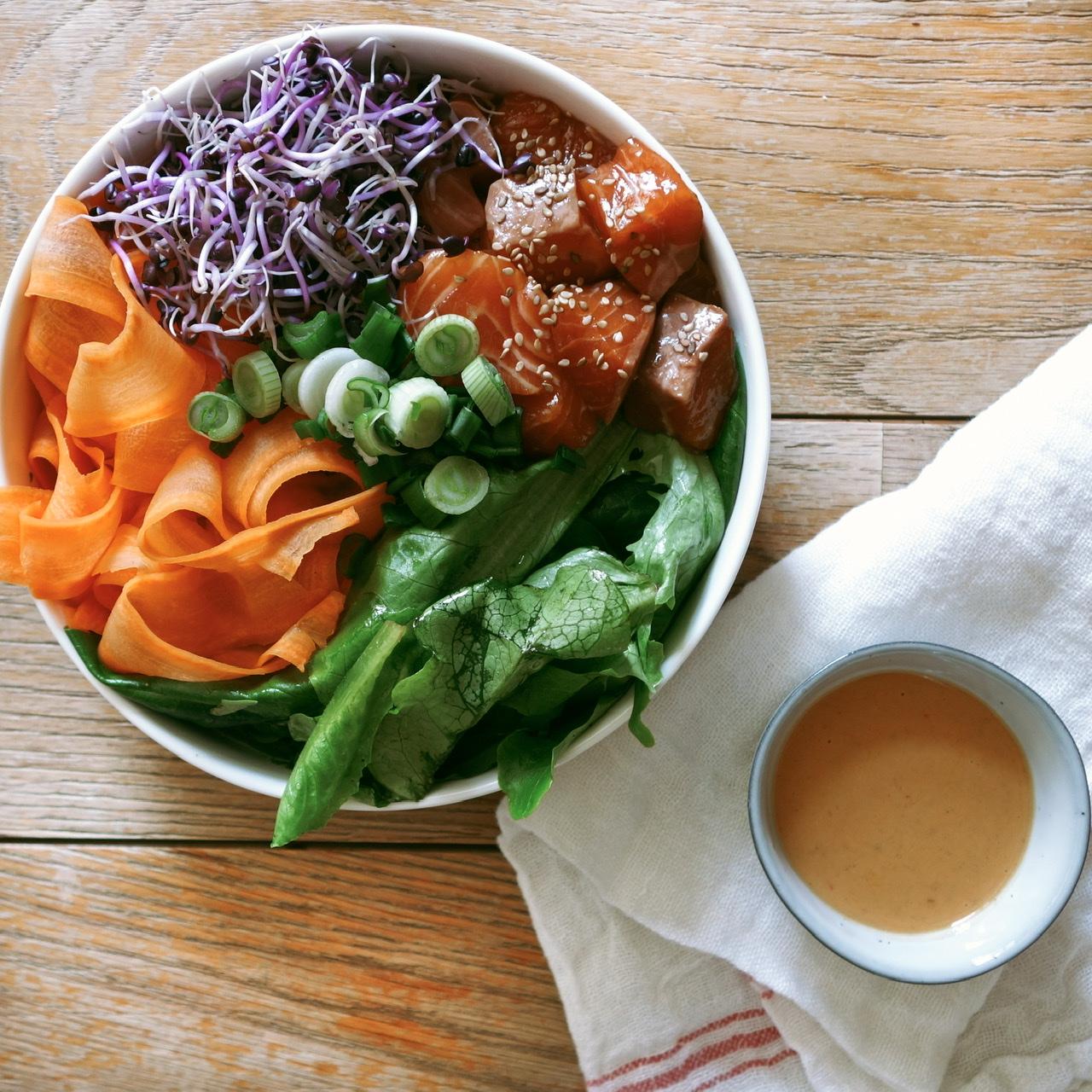 Photo de l'article Poke bowl au saumon
